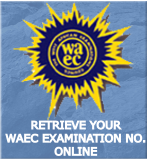 retrieve your WAEC Exam No.